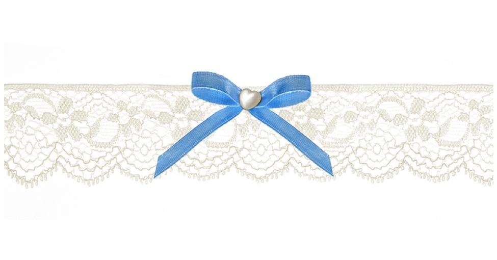 be0b6339f0 Csipkés harisnyakötő kék masnival